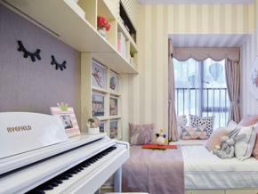 16平米简欧风格甜美儿童房设计装修图
