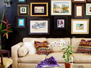 精美个性现代客厅照片墙设计装修效果图