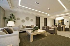 现代客厅简约装修效果图
