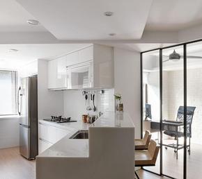 小户型开放式厨房吧台设计装修效果图
