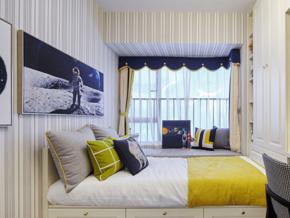 清新现代美式风格儿童房榻榻米装修图