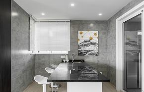 现代风格别墅灰色系吧台装修效果图
