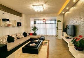 现代客厅窗帘效果图
