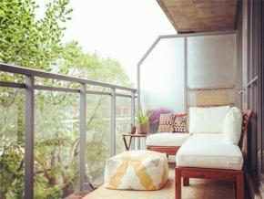 休闲温暖北欧风格公寓阳台装修实景图