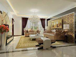 简欧客厅家装设计效果图